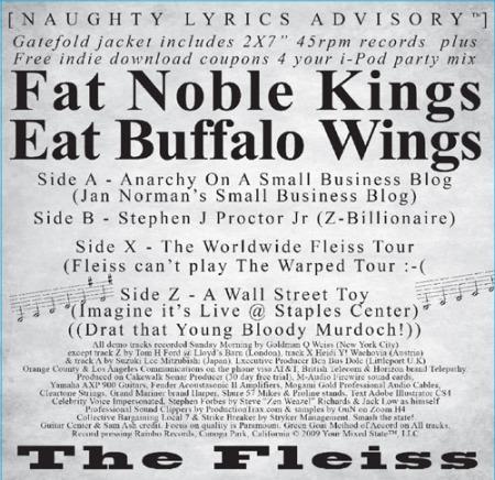 """Fat Noble Kings Eat Buffalo Wings New Fleiss Double 45rpm 2 x 7"""""""